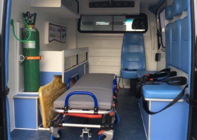 Ambulância Tipo B interno - tecform transformação veicular